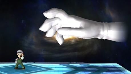 Juega con la mano maestra masterhand Quieres usar la mano de Smash Bros Melee??