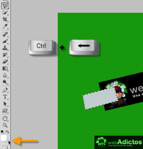 fill selection photoshop Crear una cinta adhesiva en Photoshop