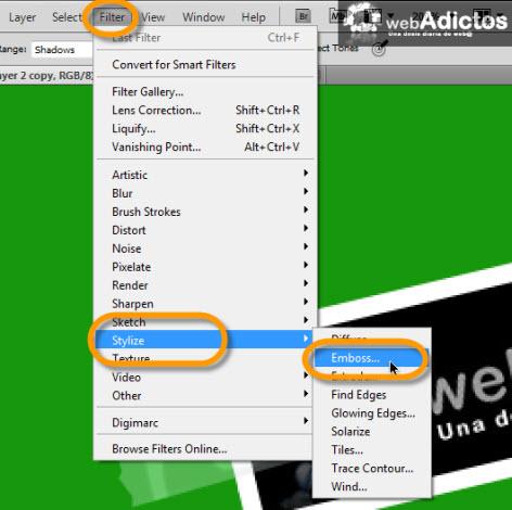 filter layer photoshop Crear una cinta adhesiva en Photoshop