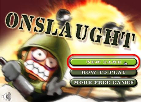 juegos gratis online Juego online, Onslaught Shooter