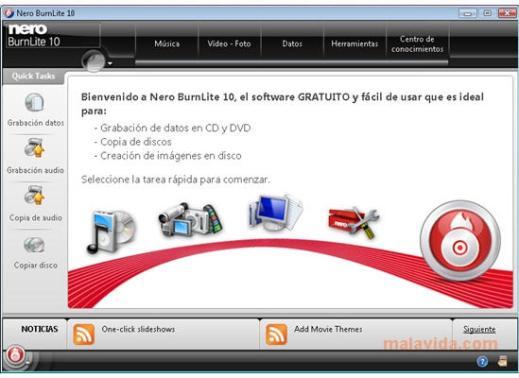 nero lite 6926 1 Grabar CDs y DVDs con Nero BurnLite 10