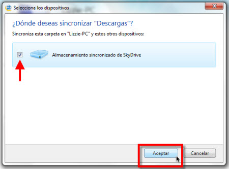 skydrive Configurar Windows Live Sync Beta