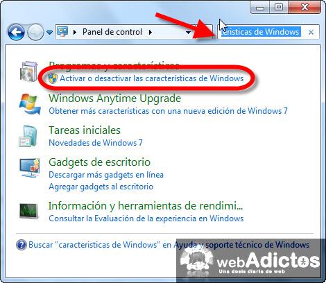 activar desactivar caracteristicas windows Desinstalar Windows Media Player 12