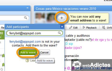 agregar contacto google wave Exporta y Respalda la información de tu Google Wave