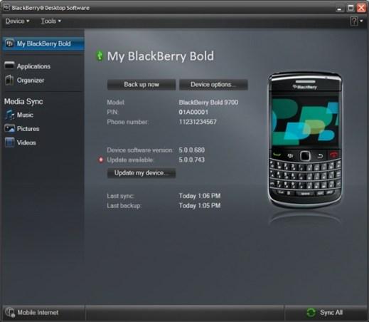 blackberry desktop 6 BlackBerry Desktop Manager 6 disponible para su descarga