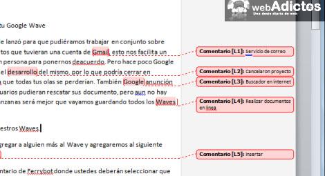 comentarios word1 Insertar comentarios en Word 2010
