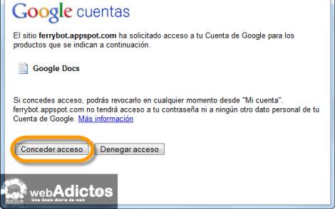 conceder acceso google docs Exporta y Respalda la información de tu Google Wave
