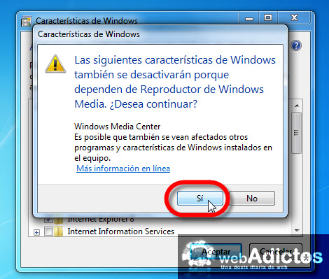 desactivar windows media player Desinstalar Windows Media Player 12