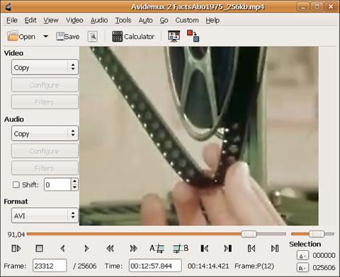editor videos Editor de videos gratis, Avidemux