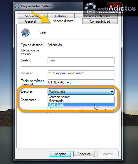 ejecutar aplicacion maximizada Abrir aplicaciones siempre maximizadas en Windows