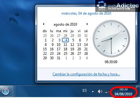 fecha windows 7 Cambiar el formato de la fecha en Windows 7