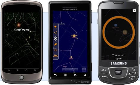 google sky map Explorar las estrellas en Android, Google Sky Map