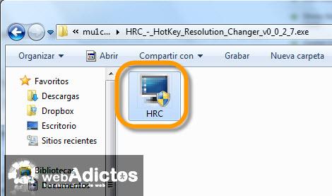 hotckeys resolution changer Cambiar la resolución de la pantalla con un atajo