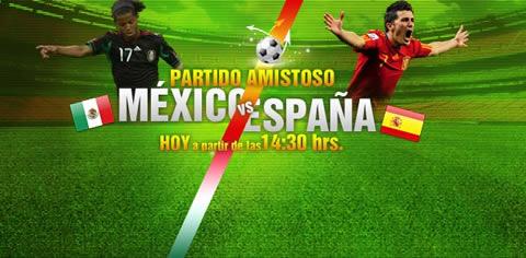mexico espana en directo Mexico vs España en vivo