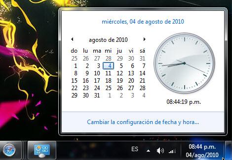 nuevo formato fecha windows Cambiar el formato de la fecha en Windows 7