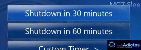 tiempo predeterminado sleeper timer Agregar un Sleep Timer a Windows Media Center