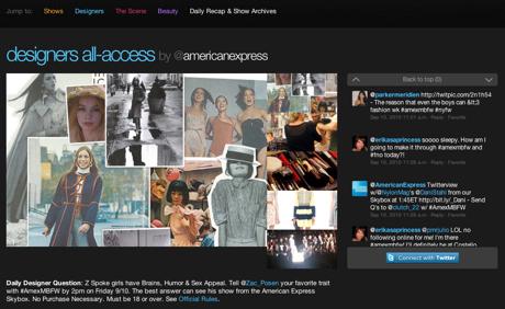 New York Fashion show twitter 2 Twitter lanza micro sitio para seguir el New York Fashion Week