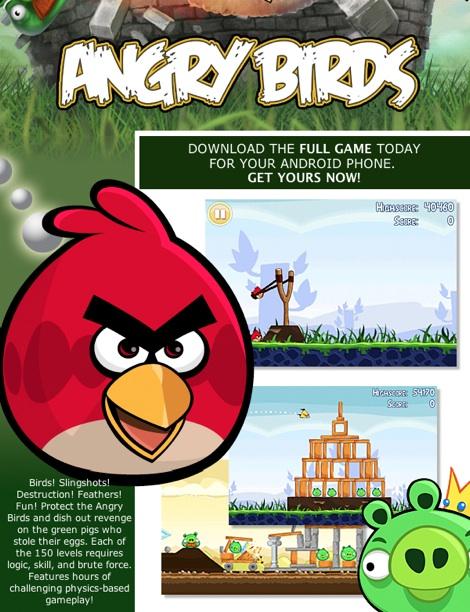Angry Birds para Android disponible ya Angry Birds para Android ya disponible Gratis!