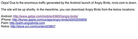 Rovio.com Angry Birds para Android ya disponible Gratis!