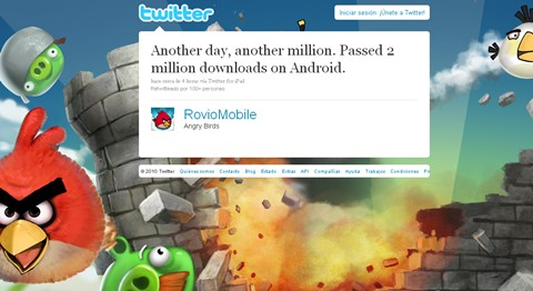 angry birds 2 millones descargas android Angry Birds rompe record en Android