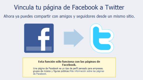 tw+FB Dos links básicos para Facebook