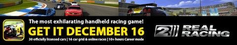 Real Racing 2 para iPhone, llegará el 16 de Diciembre