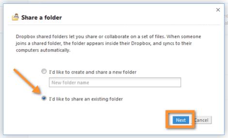 compartir carpeta existente Como compartir una carpeta en Dropbox