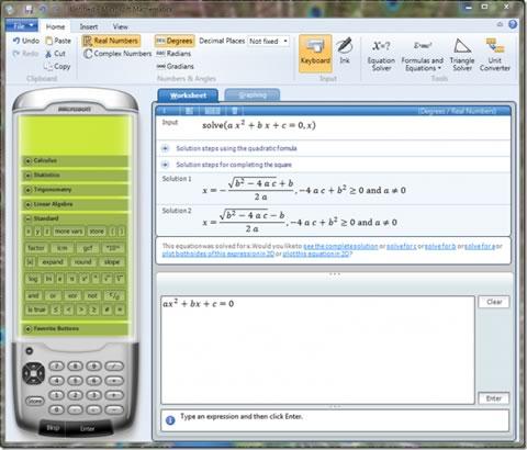ecuaciones matematicas Resolver ecuaciones matemáticas con Microsoft Mathematics 4.0
