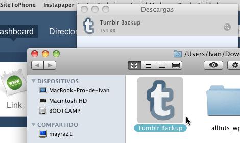 tumblr backup app Cómo hacer un respaldo de tu blog Tumblr