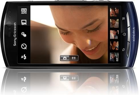 Xperia neo frente azul Sony Ericsson Xperia Neo