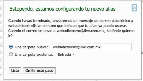 alias hotmail Crear alias de correo hotmail