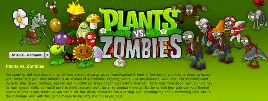 plantas vs zombies Plantas vs Zombies disponible en la Mac App Store