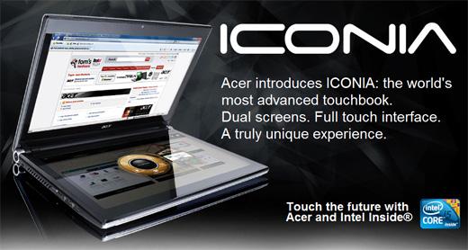 acer iconia Acer Iconia, sensacional laptop con doble pantalla touch