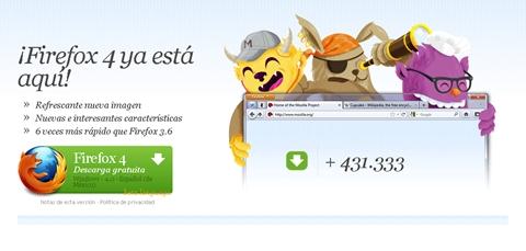 firefox 4 lanzamiento Firefox 4 disponible