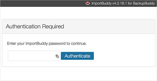 Importbuddy password