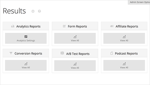 Viewing reports in Rainmaker results