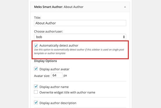 Auto detect author widget