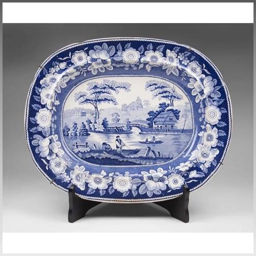 Medium Of Blue Rose Pottery