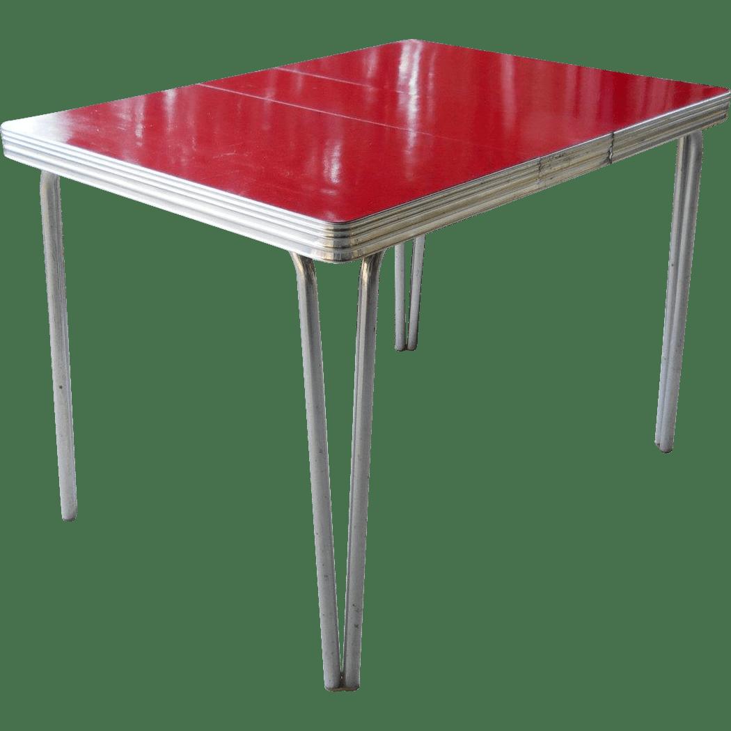 Mid Century Modern s Cherry Red s kitchen table Mid Century Modern s Cherry Red Formica Kitchen Table