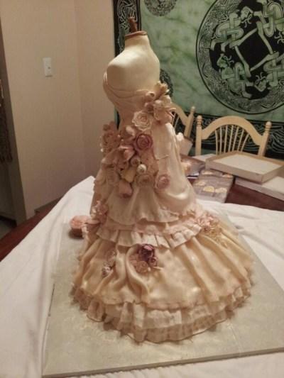 Wedding Dress Cake - CakeCentral.com