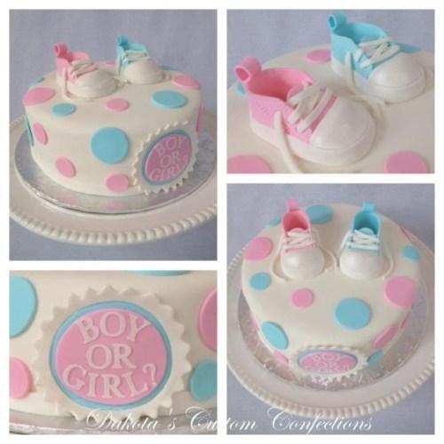 Serene Blue Baby Shoes Gender Reveal Cake On Cake Central Pink Pink Blue Baby Shoes Gender Reveal Cake Gender Reveal Cake Filling Ideas Fall Gender Reveal Cake Ideas