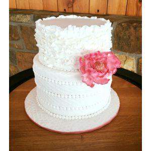 Noble Two Tier Wedding Cake Petal Raffles Beading On Cake Central Two Tier Wedding Cake Petal Raffles Beading Two Tier Wedding Cake Flavor Two Tier Wedding Cake Boxes