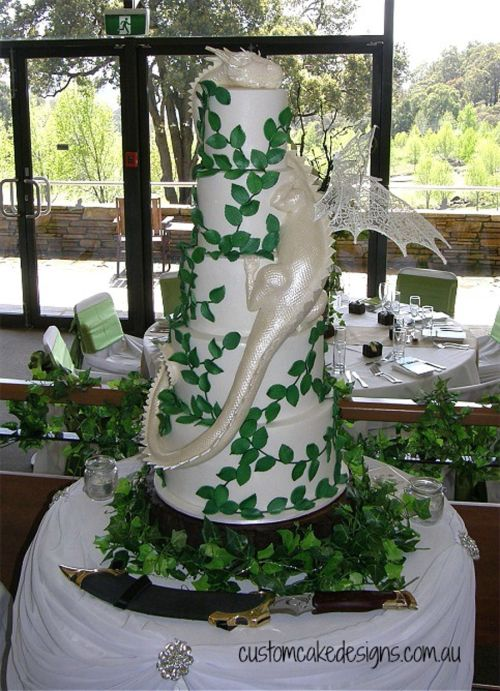 Medium Of Dragon Wedding Cake