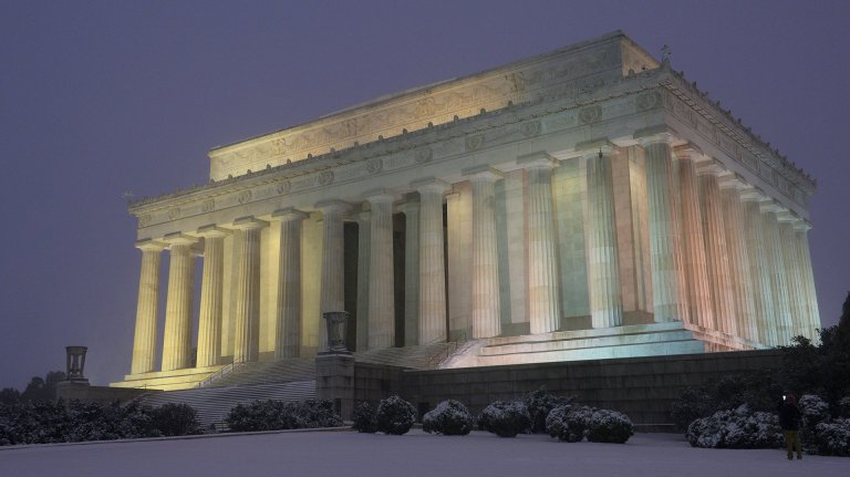 Una postal del Lincoln Memorial en Washington