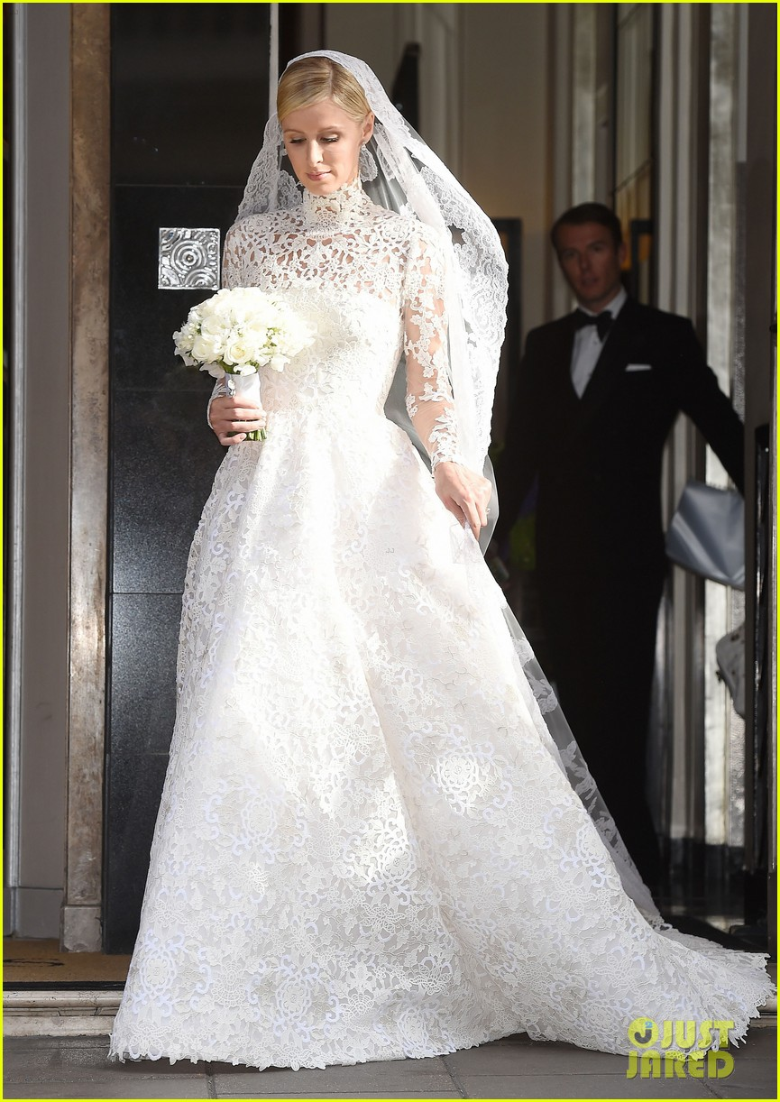 nicky hilton steps out in wedding dress 05 wedding dress under $ Nicky Hilton Looks Amazing in Her Wedding Dress See Pics