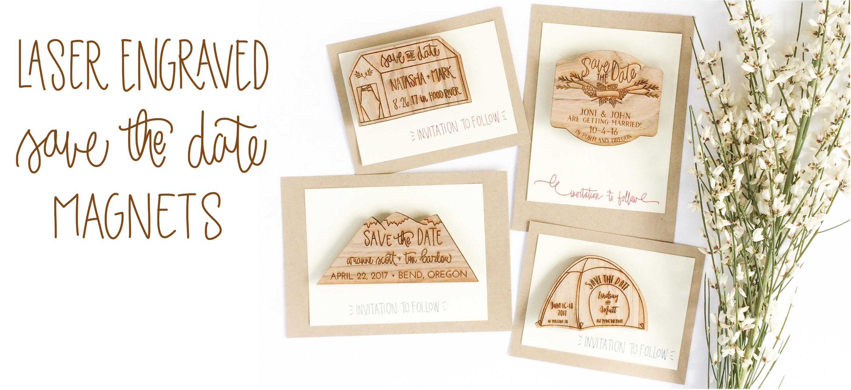 Fullsize Of Save The Dates Magnets