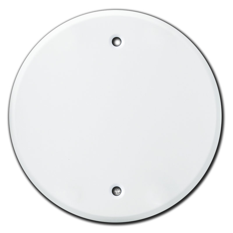 Round Blank Ceiling Outlet Cover For 4 Electrical Box White
