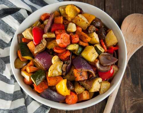 Medium Of Roasted Vegetables With Balsamic Vinegar