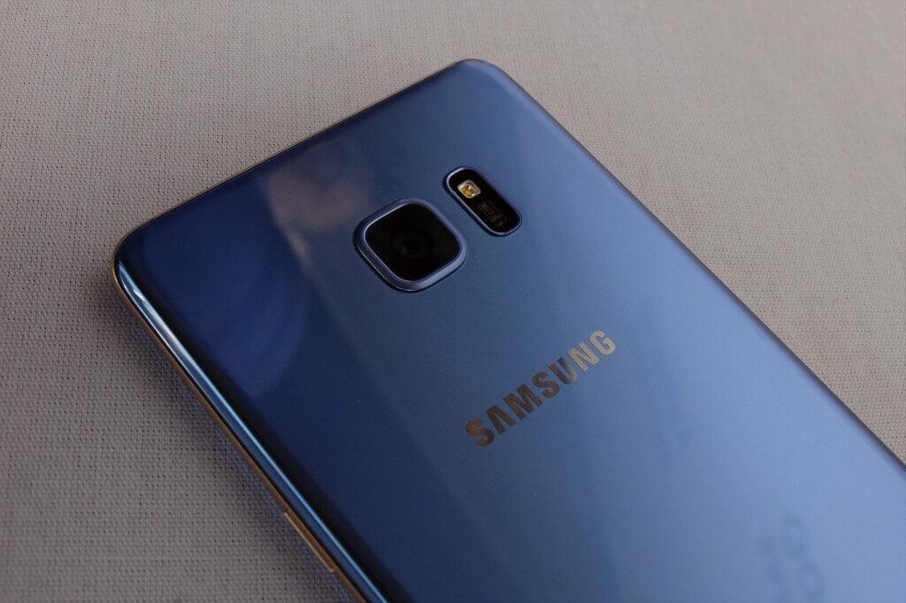 Samsung Galaxy Note 7 azul camara
