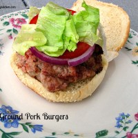 Grilled Ground Pork Burgers